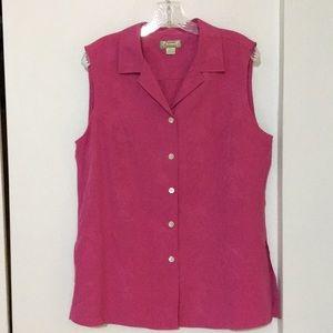 Silk Tommy Bahama sleeveless blouse